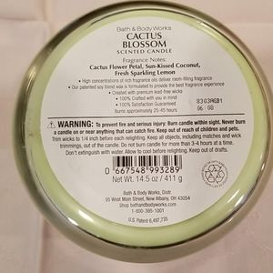 Bath & Body Works Accents - NWOT Bath and Body Works Cactus Blossom candle